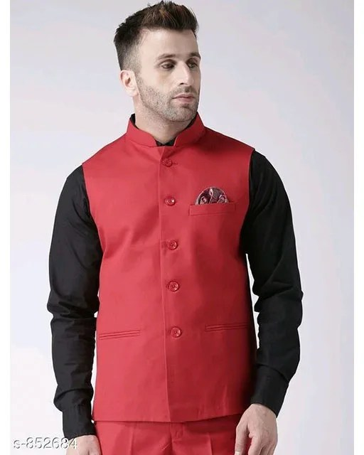Perfect-Fit Men's Polyester Viscose Waist Coats Vol 2 (5)