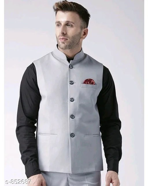Perfect-Fit Men's Polyester Viscose Waist Coats Vol 2 (3)
