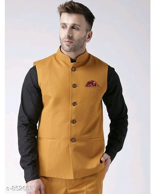 Perfect-Fit Men's Polyester Viscose Waist Coats Vol 1 (2)