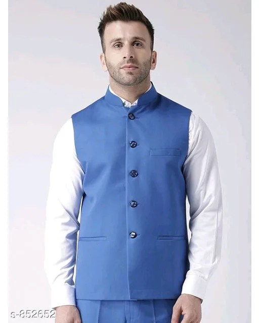 Perfect-Fit Men's Polyester Viscose Waist Coats Vol 1 (1)