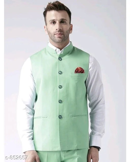 Perfect-Fit Men's Polyester Viscose Waist Coats Vol 1 (3)