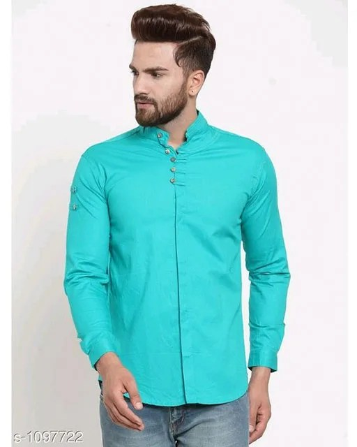 Men's Stylish Trendy Cotton Solid Shirts (5)