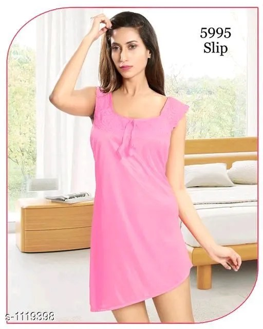 Women's Trendy Satin Short Nighties Vol 1