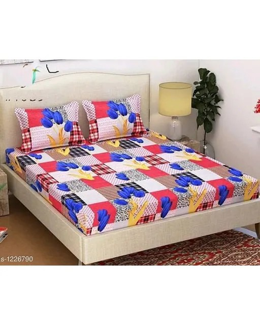 Smart Buy Colorful Beautiful 3D Printed Double Bedsheets Vol 1 (6)