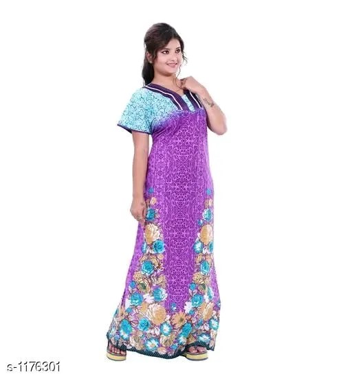 Ladies Cotton Printed Nighty Vol 2
