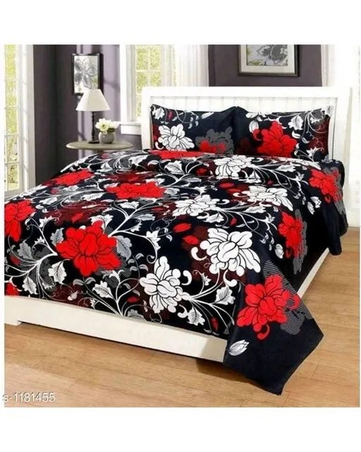 Trendy Cotton Printed 3D Double Bedsheets Vol 9 (7)