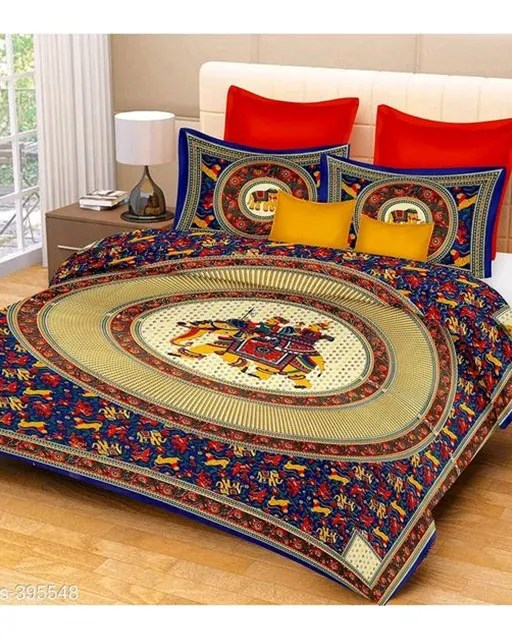 Jaipuri Decorative Printed Double Bedsheets Vol 6