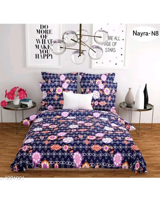 Stellar Latest Poly Cotton Double Bedsheets Vol 1