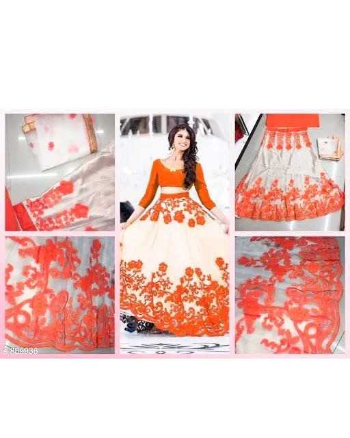Hiba Lovely Net Embroidered Lehengas (7)