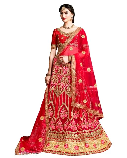 Gorgeous Stunning Net Embroidered Women's Lehengas Vol 1 (1)