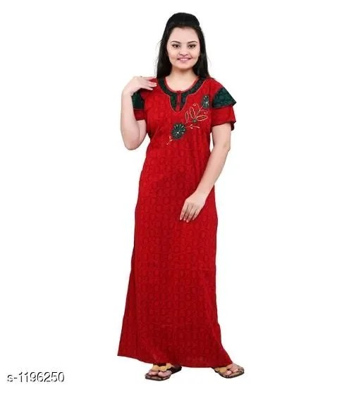 Women's Embroidered Cotton Nighty Vol 1