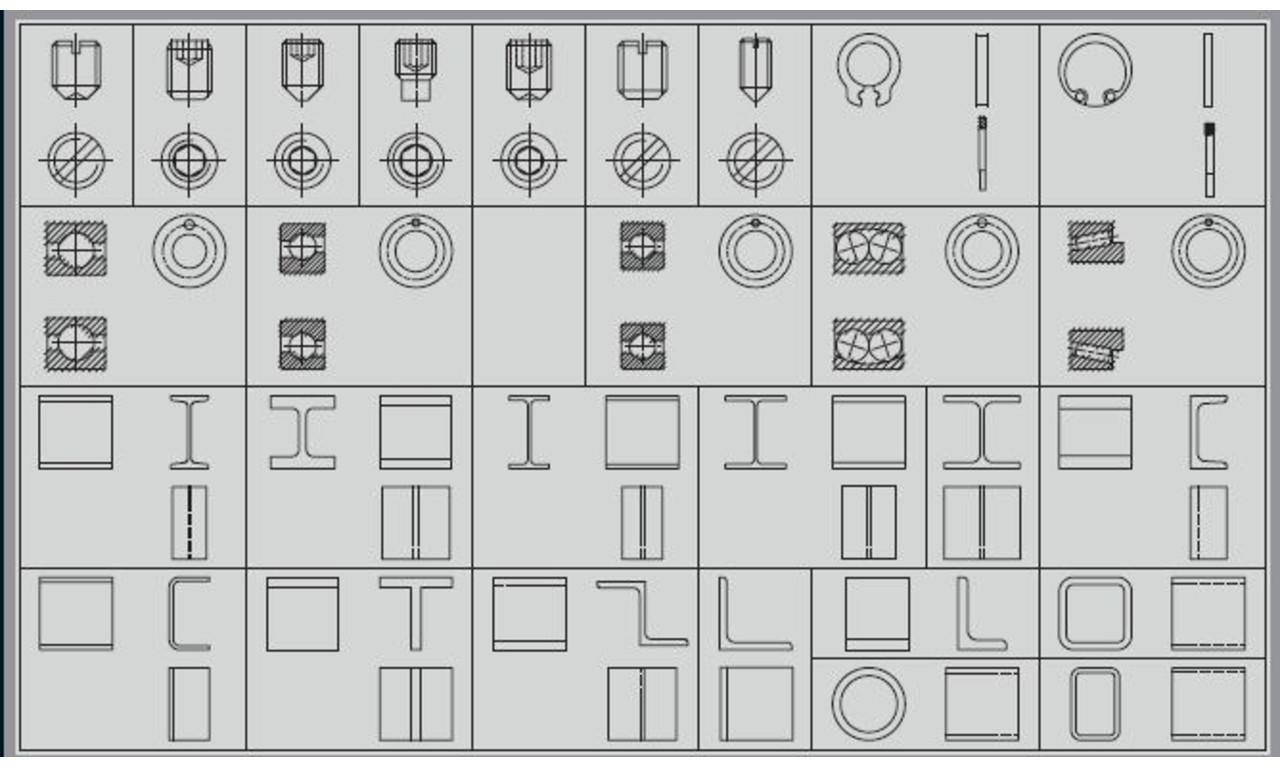 Cad Symbole Maschinenbau