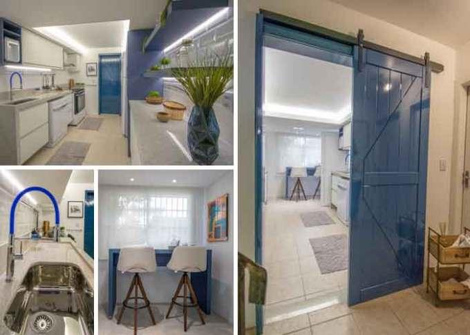 Cozinha azul de Ana Bedinot