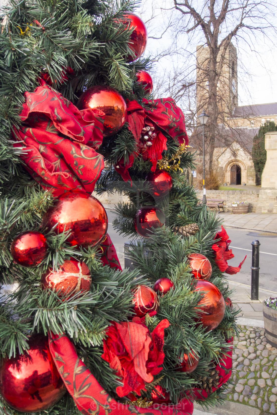 Christmas Decorations Oposite Corbridge Church