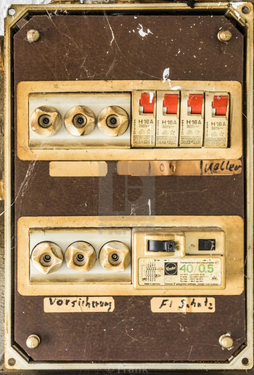 small resolution of  old very unsafe fuse box in the basement of a house stock image