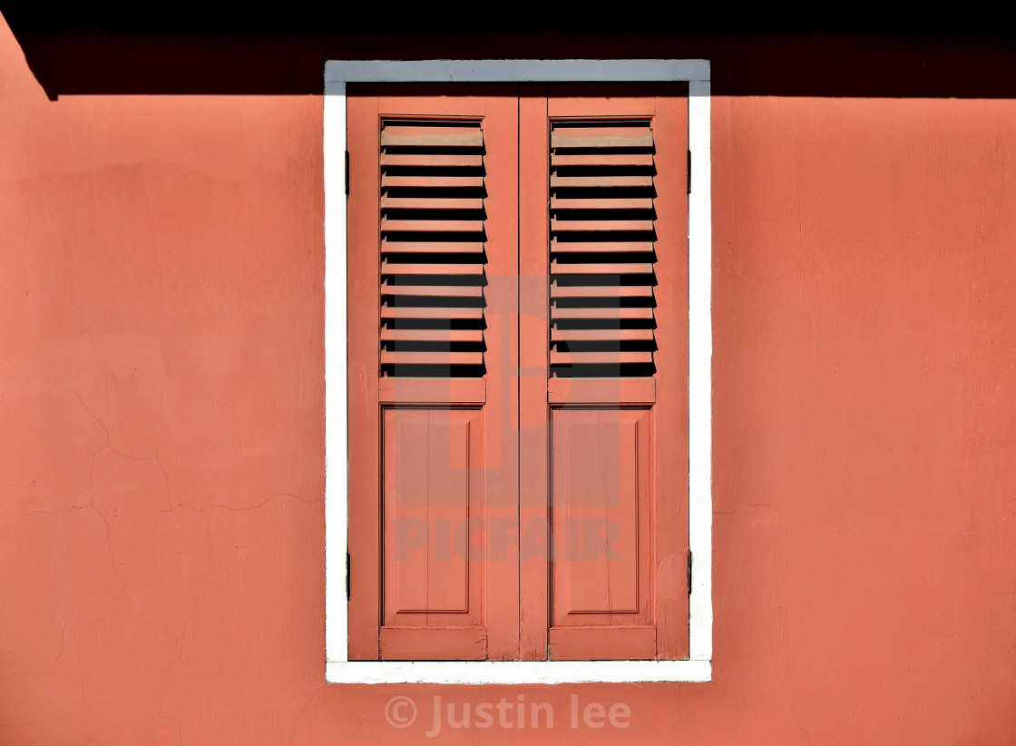 Orange Window With Antique Shutters License Download Or