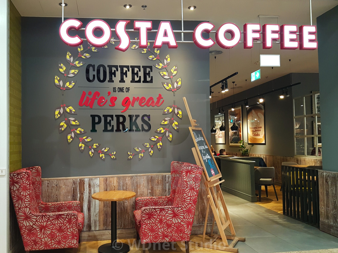 costa coffee coffeehouse license