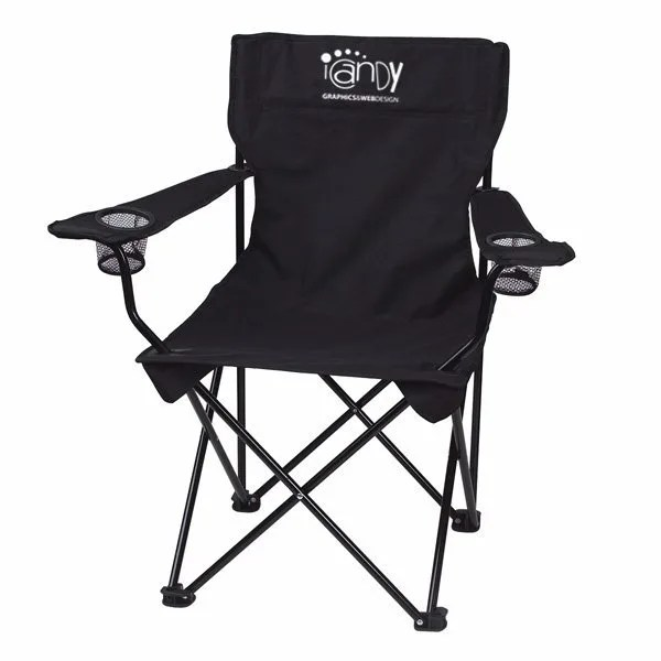 chairs in a bag junior desk chair customizable fold up with folding carrying promotional outdoor business logo black