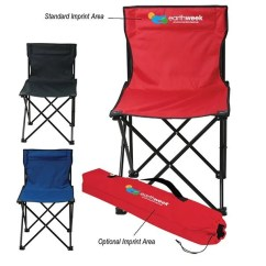 Folding Chair Nylon Crate And Barrel Office Economy Business Promotional Camping Chairs With Logo Front Custom Imprint