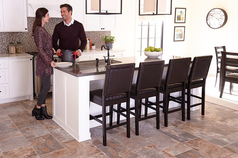 the kitchen flooring design center