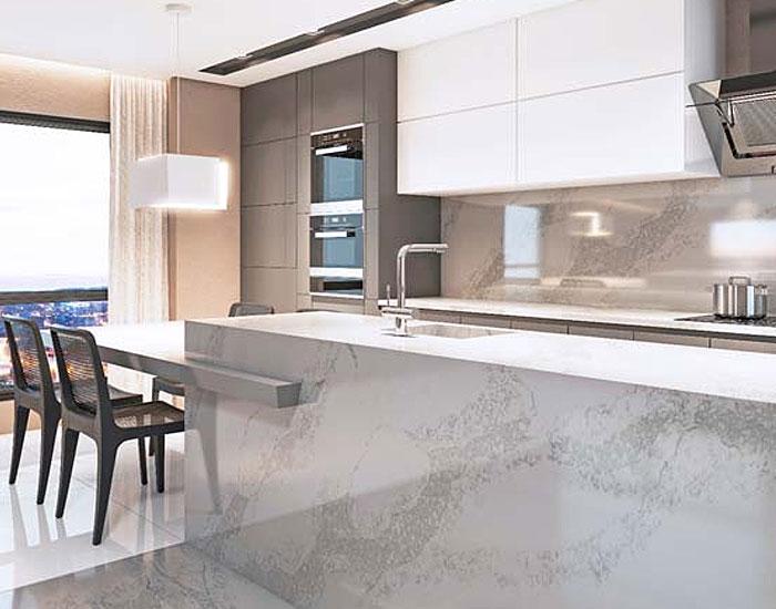 Linha Topzstone Guidoni inspirada no mármore Calacata