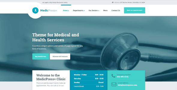 MedicPress WordPress Theme Free Download