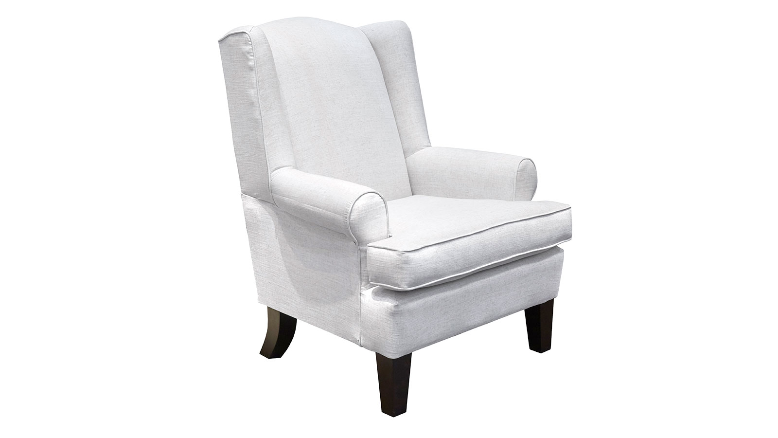 White Wing Chair Amelia Flax Wing Chair