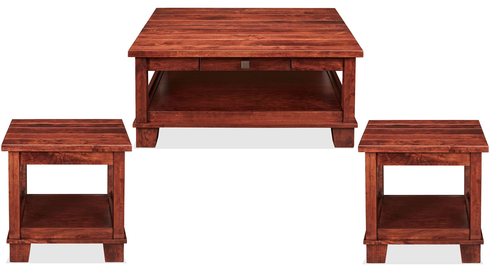 laredo rustic cherry 3pc table set