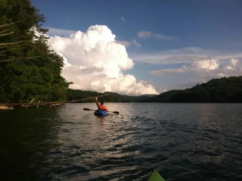 Kayaking on Lake Glenville NC
