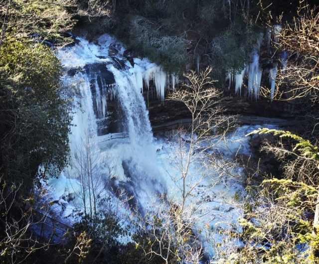 Frozen Dry Falls, Highlands NC