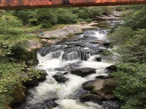 View from Old Iron Bridge of Chattooga River