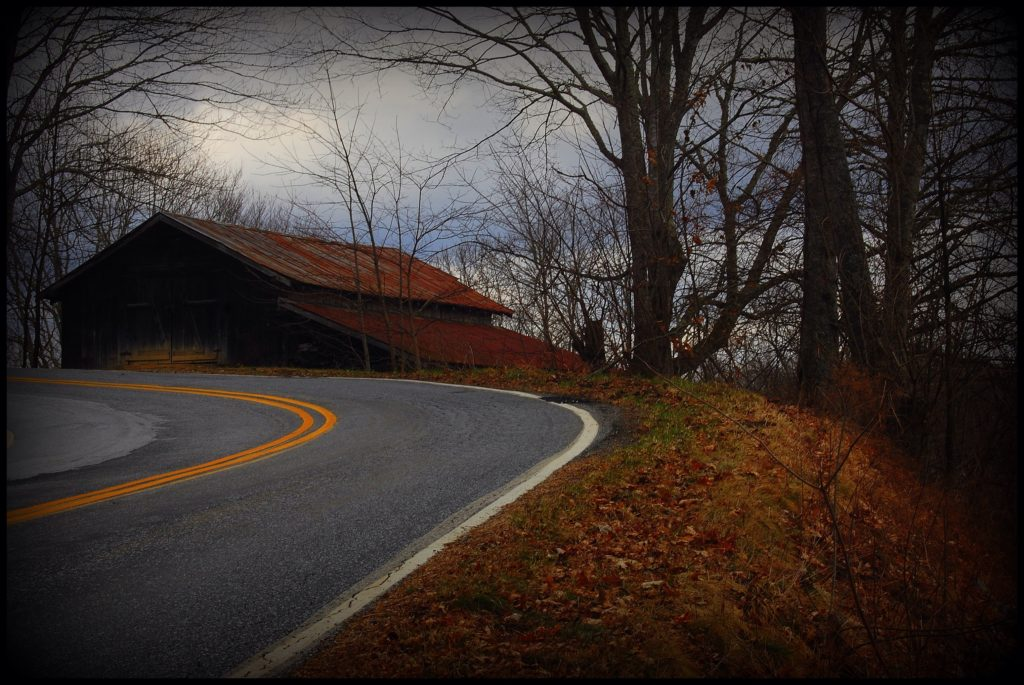 barn in curve Cullowhee Glenville mountain
