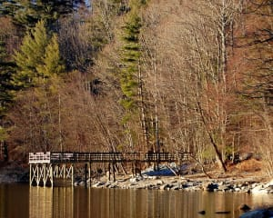 New fishing pier on Lake Glenville NC