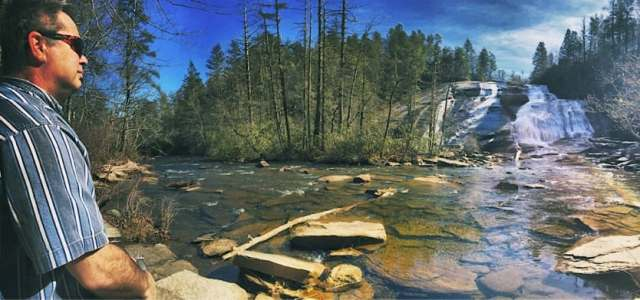 Dupont State Recreational Forest Base of High Falls in February
