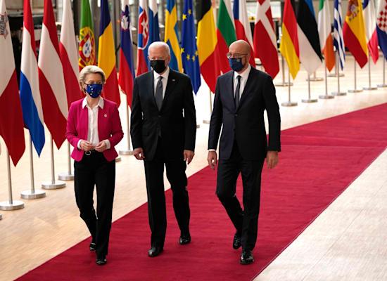 European Council President Charles Michel, Biden and Commission President Ursula von der Lane / Photo: Associated Press