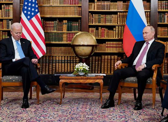 Summit meeting between Biden and Putin, Wednesday / Photo: Associated Press