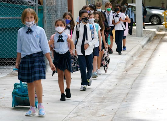 Students march to Florida school this month / Photo: Associated Press, Lynne Sladky