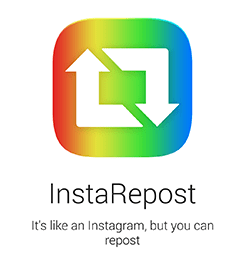 Using InstaRepost Application