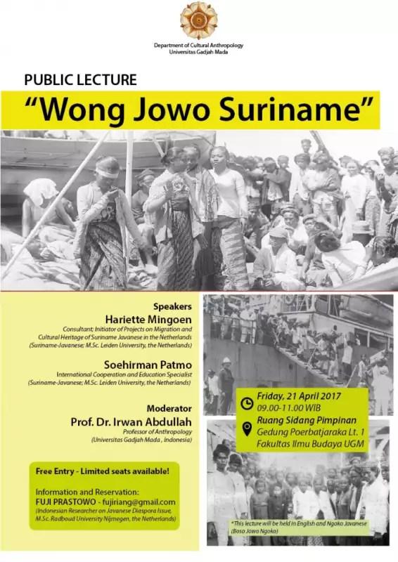 Public Lecture: Wong Jowo Suriname