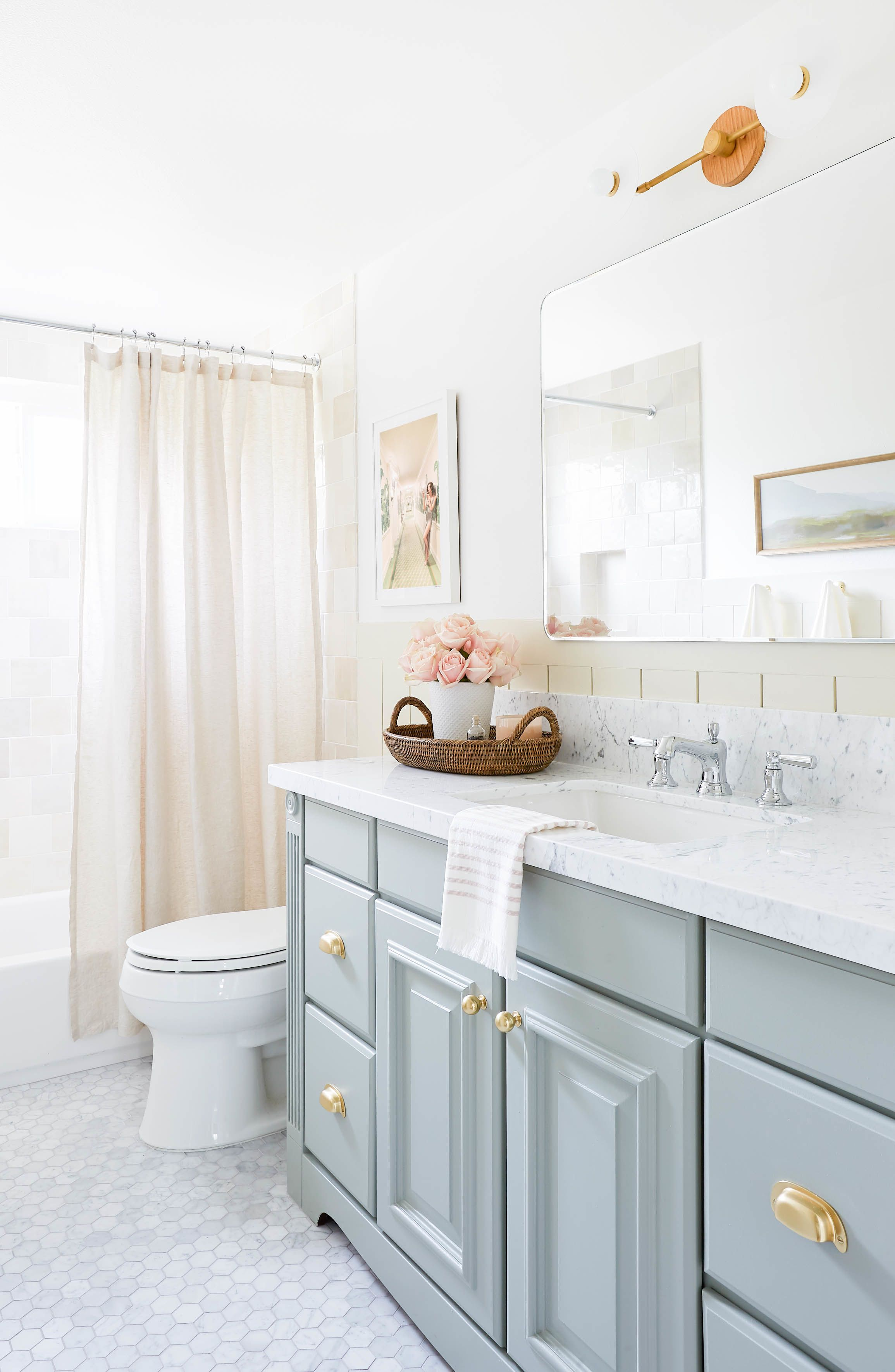 creating a polished bathroom with amber