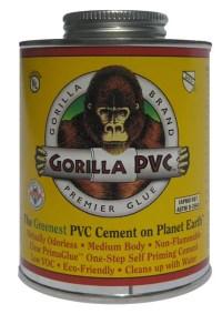 Gorilla Glue PVC Cement - Eco-Friendly, Low Odor ...