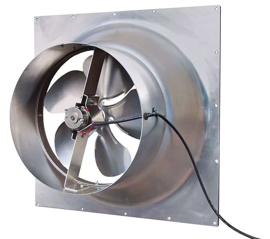 Attic Fan With Thermostat Wiring Diagram Natural Light Energy Systems Solar Attic Fan Gable