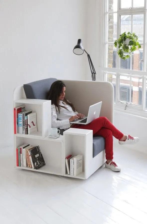 meuble multifonction fauteuil rangements