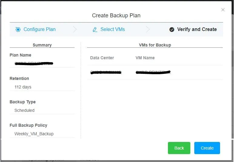 Hybrid Backup Recovery Gateway Verify VM