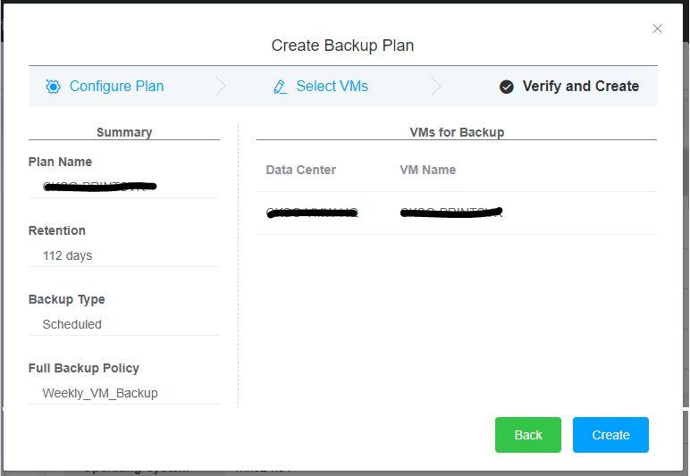 Hybrid Backup Recovery Gateway Verify VM
