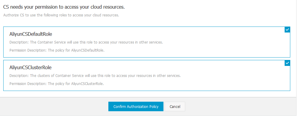CS needs your permission to access your cloud resources.
