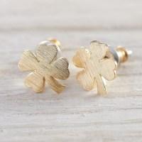 Four leaf clover earrings | hardtofind.