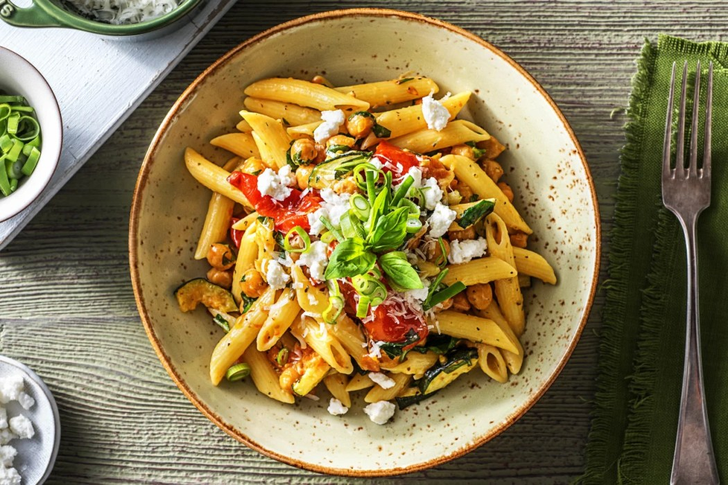 Kickin' Goat Cheese Penne-how to roast chickpeas-HelloFresh