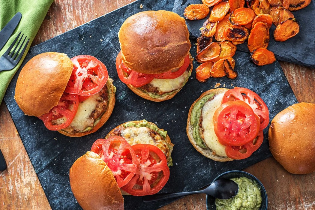 Pesto Turkey Burgers-grilling recipes-HelloFresh