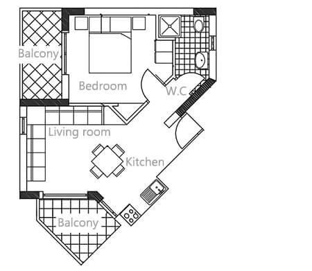 Apartments floor plan